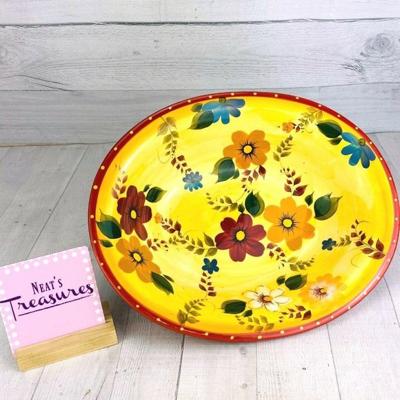 Oneida SUNSET BOUQUET Colorful Oval Serving Bowl